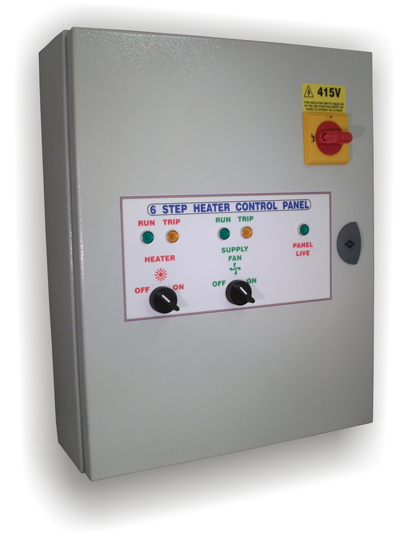 Heater Control Panel - 6 Step Heater Control Panel - Sarum Electronics